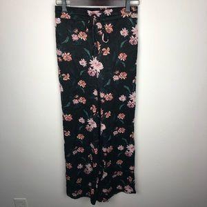 Dance & Marvel Floral Wide Leg Swing Pants Size M